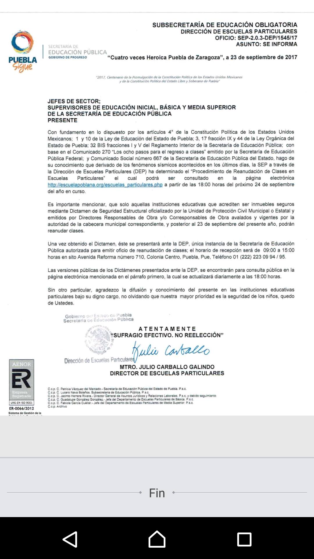 Magnífico Educación Reanudar La Escuela Secundaria Fotos - Ejemplo ...
